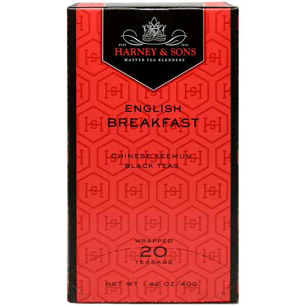 Harney & Sons Premium English Breakfast Tea - 20 Bag Box - CustomPaperCup.com Branded Restaurant Supplies