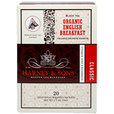 Harney & Sons Wrapped Organic English Breakfast Tea - 20 Sachet Box - CustomPaperCup.com Branded Restaurant Supplies