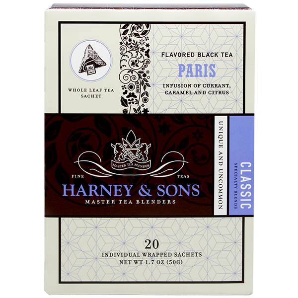 Harney & Sons Wrapped Paris Tea - 20 Sachet Box - CustomPaperCup.com Branded Restaurant Supplies