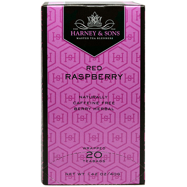 Harney & Sons Premium Red Raspberry Herbal Tea - 20 Bag Box - CustomPaperCup.com Branded Restaurant Supplies