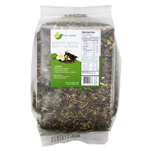 Tea Zone Premium Jasmine Green Tea Leaves - Case - CustomPaperCup.com Branded Restaurant Supplies