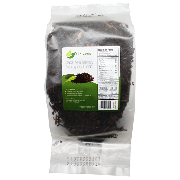"Tea Zone ""Vintage Blend"" Black Tea Leaves - Bag (8.46oz) - CustomPaperCup.com Branded Restaurant Supplies"
