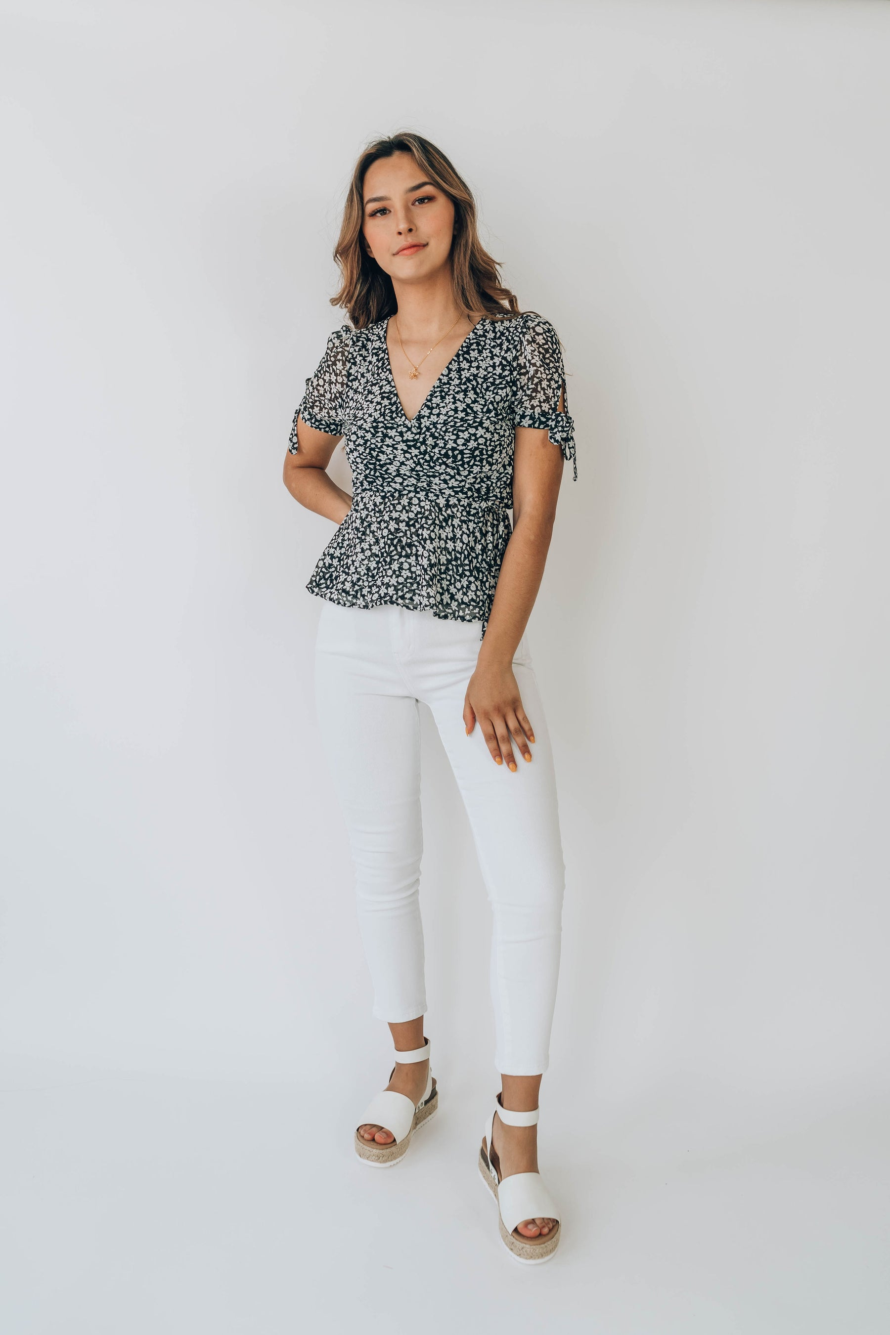 Whitley Wrap Top