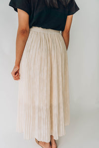 Chrissy Cream Maxi Skirt