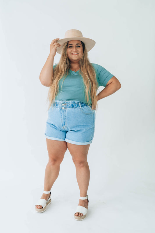 Paula Paper Bag Shorts Curvy