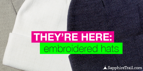 New Product Launch: Embroidered Hats
