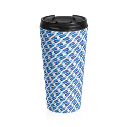 Blue Feathers Stainless Steel Travel Mug