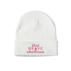 Kind Brave Adventurous Beanie