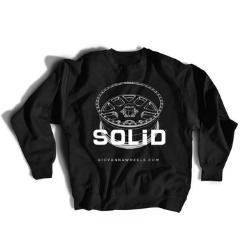 Solid Wheels - Black Crewneck Sweatshirt