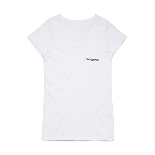 Giovanna Family - Womens White V-Neck