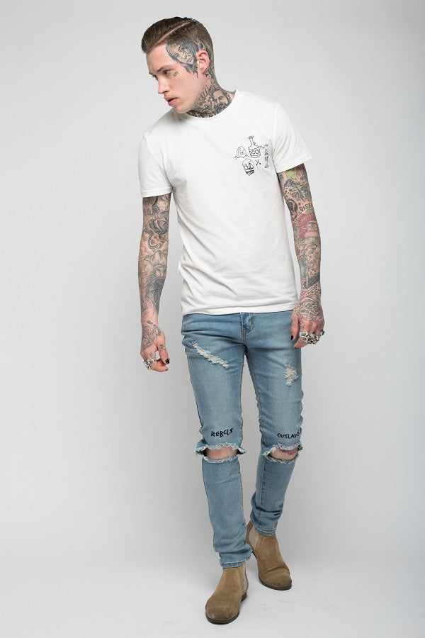 Roadies of 66 - Rebels & Outlaws distressed skinnies