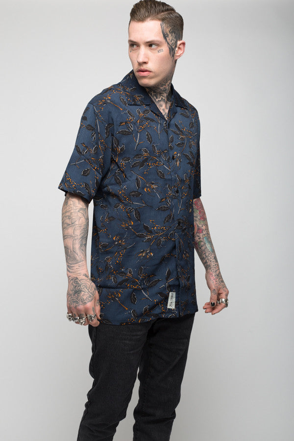 Roadies of 66 - Mobster Miami Floral printed revere collar shirt