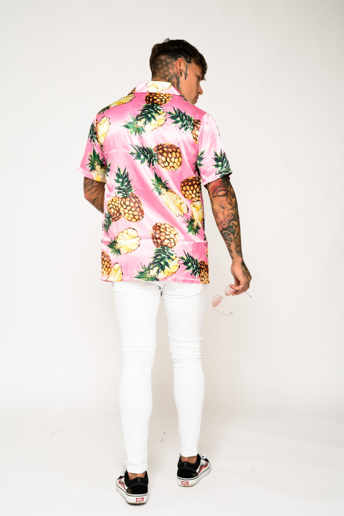 Roadies of 66 - Pineapple Print Revere Collar Shirt