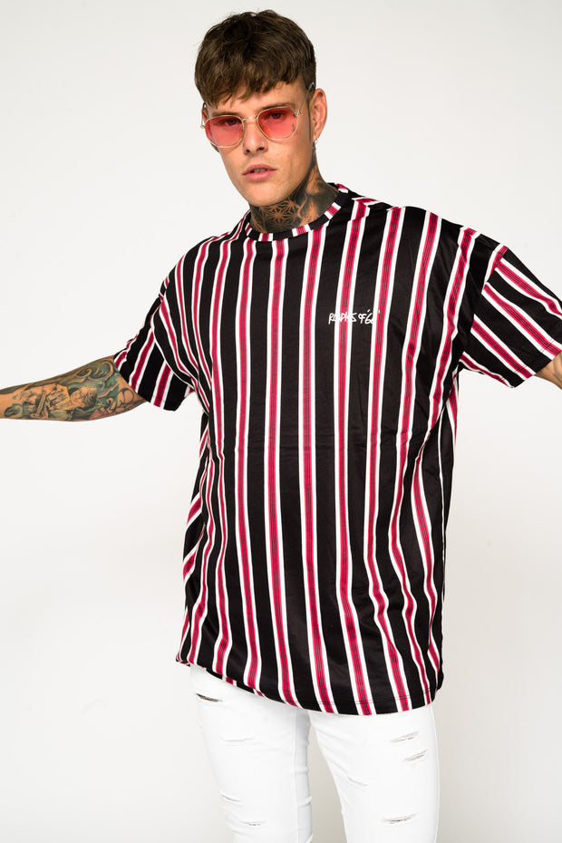Roadies of 66 - Oversized Striped T-Shirt