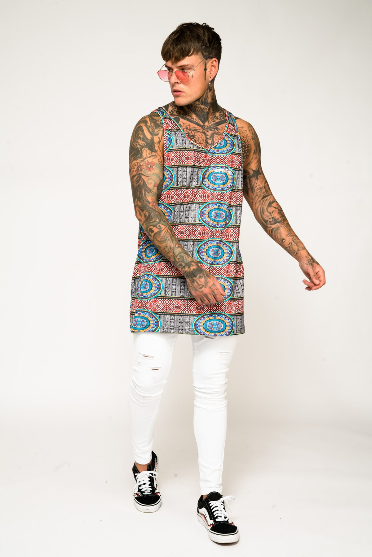 Roadies of 66 - Oversized Aztec Print Vest