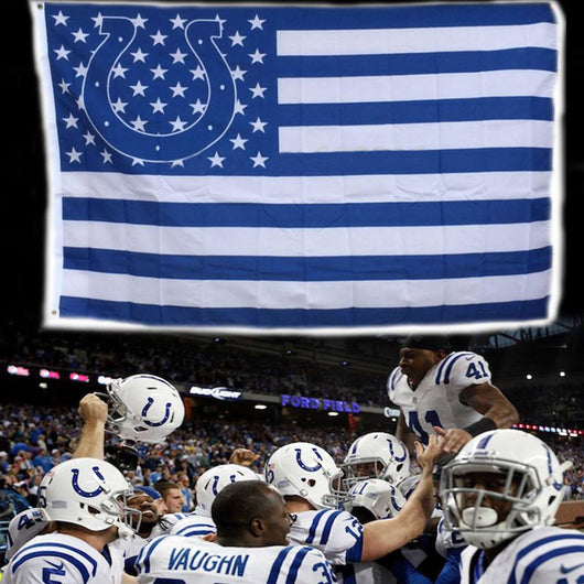 INDIANAPOLIS COLTS STARS AND STRIPES BANNER