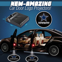 2 NFL DALLAS COWBOYS WIRELESS LED CAR DOOR PROJECTORS
