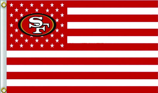 SAN FRANCISCO 49ERS 3' X 5' STARS & STRIPES BANNER