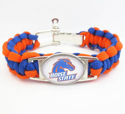 BOISE STATE PARACORD FOOTBALL SPORTS BRACELET