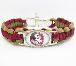 FLORIDA STATE PARACORD FOOTBALL SPORTS BRACELET