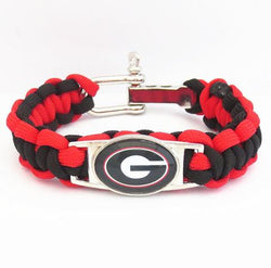 GEORGIA BULLDOGS PARACORD FOOTBALL SPORTS BRACELET - 50% OFF TODAY
