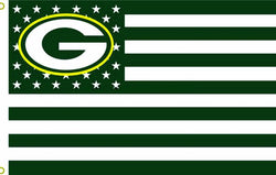 GREEN BAY PACKERS 3' X 5' STARS & STRIPES BANNER