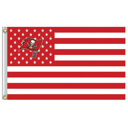 TAMPA BAY BUCCANEERS 3' X 5' STARS & STRIPES BANNER
