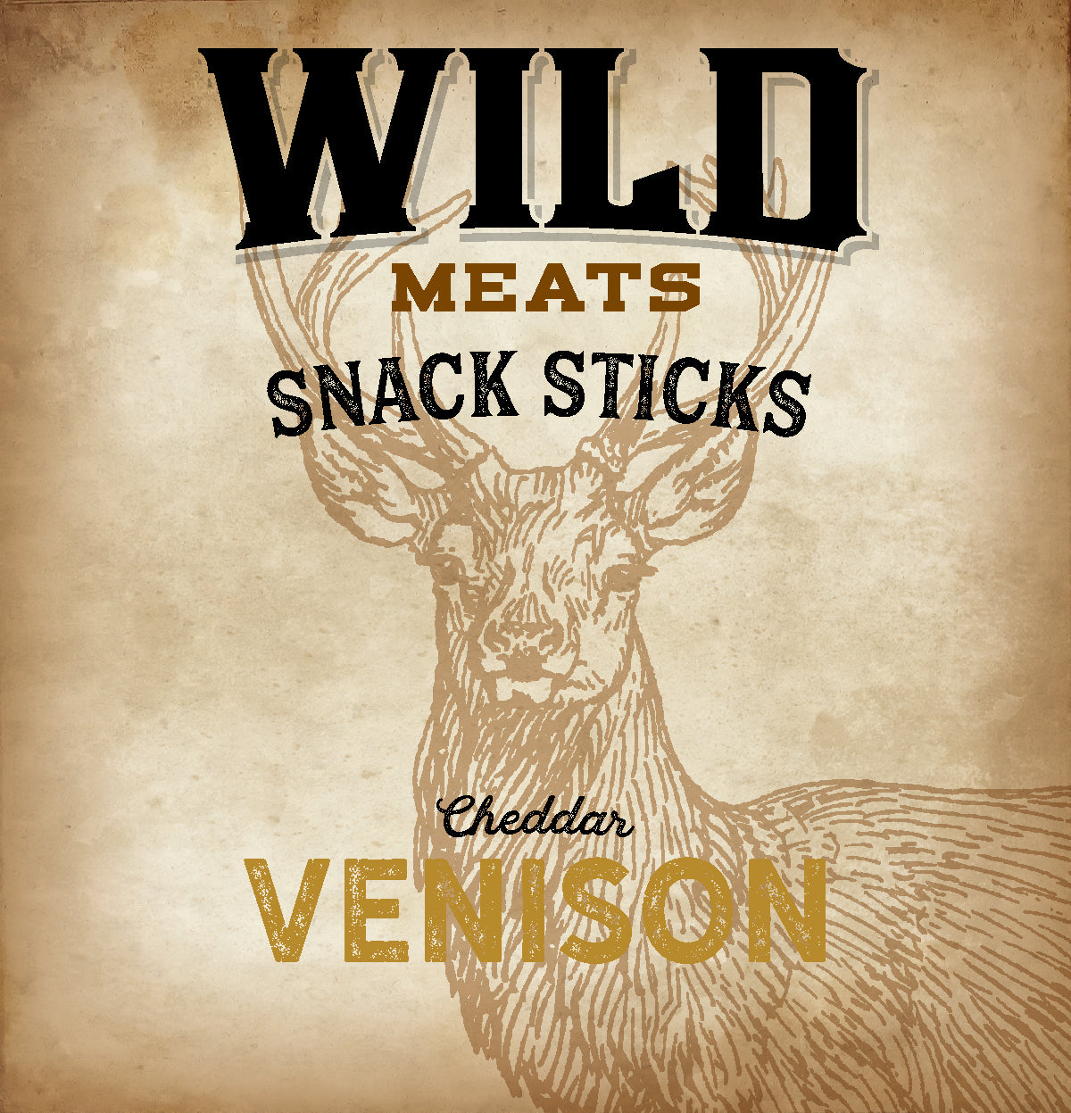 Snack Sticks - Venison w/Cheddar