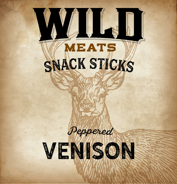 Snack Sticks - Peppered Venison