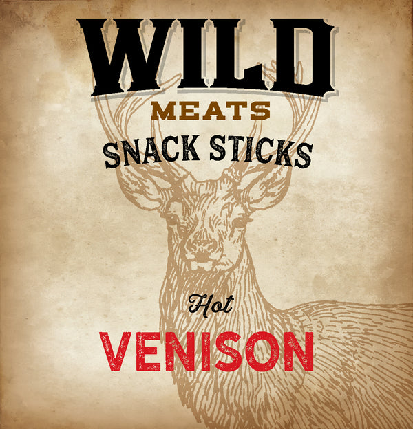 Snack Sticks - Hot Venison