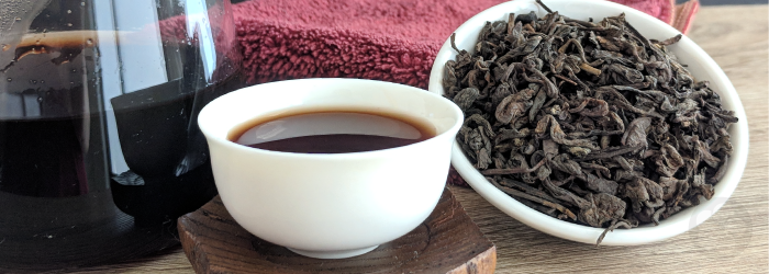 the rich flavors of pu-erh tea pair well with food, while microbial activity can help aid digestion.