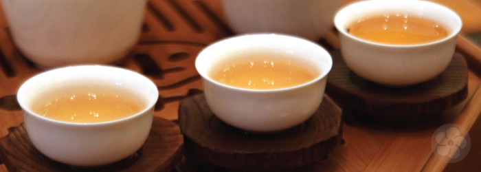 tasting tea from small cups can increase focus on the subtle flavors.