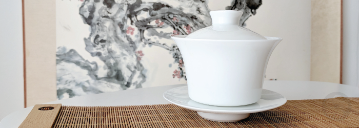 This porcelain gaiwan is precisely crafted for easy use and perfect brews every time.