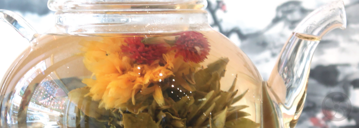 two ounces of our Inner Blossom Jasmine tea are packed inside an attractive storage canister.