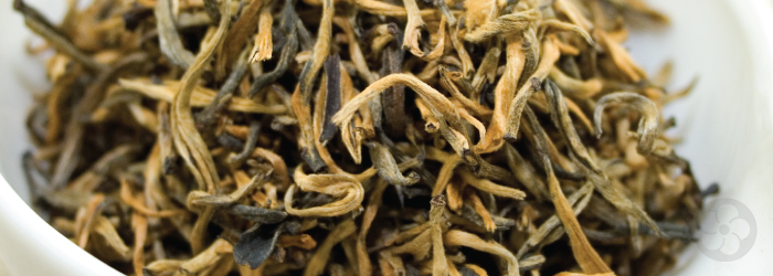 "This ""Gold Thread"" tea from Yunnan is named for its distinctive appearance."
