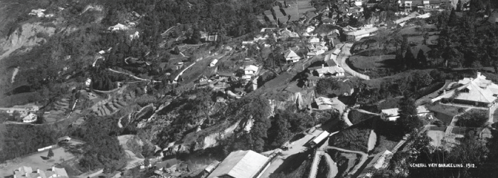 Historic photograph of Darjeeling, taken in 1912
