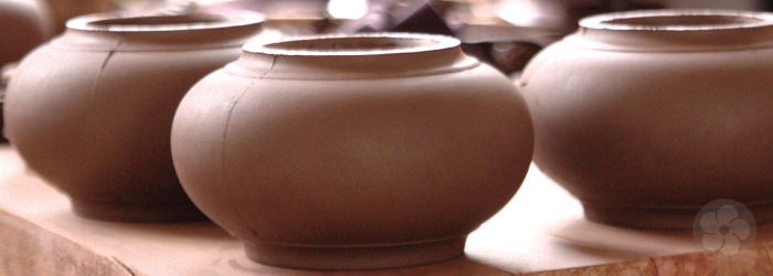 Teapot pieces are often slip cast to create repeated forms