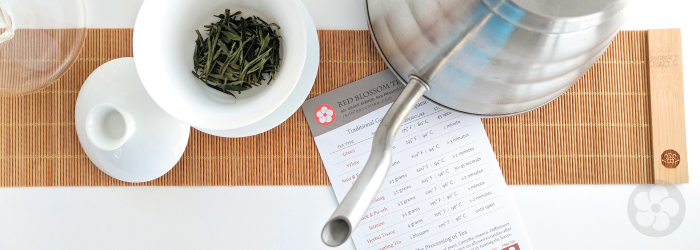 plan a way to make adjustments in water temperature as you brew multiple teas.