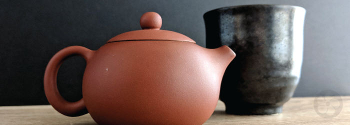 a small teapot brews the perfect amount for a single cup