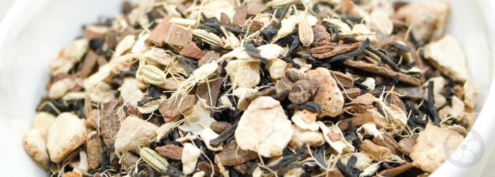 Chai is an extremely popular blend of bold black tea and indian spices, brewed strong and served with milk