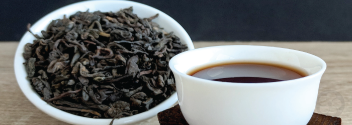 Well aged pu-erh teas are good for digestion and contain less caffeine than fresh leaves