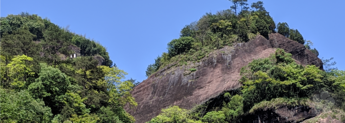 Rocky cliffs in the Wuyi Mountains are famously associated with the flavor of local oolong teas.
