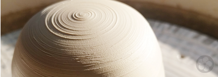 porcelain on the potters wheel