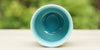 Top view: Turquoise Sky Yunomi Tea Cup