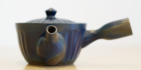 Cobalt Side Handle Teapot