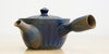 Diagonal side view: Cobalt Side Handle Teapot
