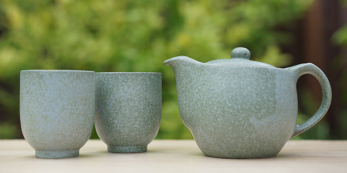 Terra Green Tea Set with 2 Cups