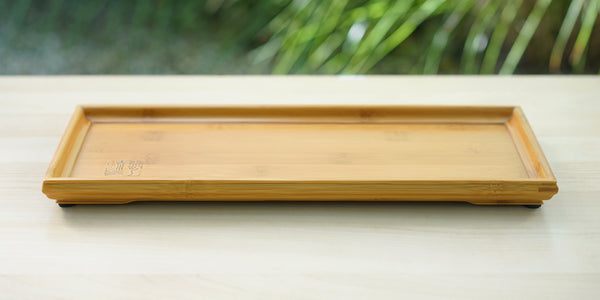 Long Bamboo Service Tray