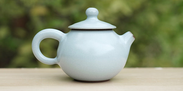Side view: Blue Celadon Teapot