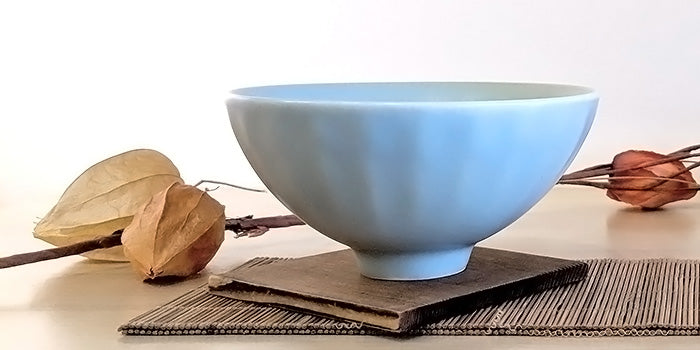 Blue: Celadon Tea Bowl, Chrysanthemum